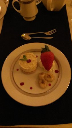 The Arches:                   White choc parfait Dessert :)
