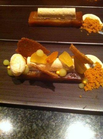 Aan tafel bij Luc Bellings:                   appeltaartje