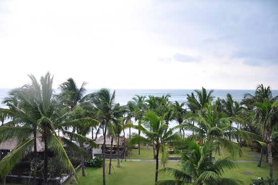 The Legian Bali:                   the view from the balcony