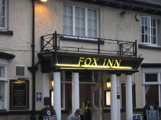 The Fox Inn:                                     the room we stayed in (the noisy one )