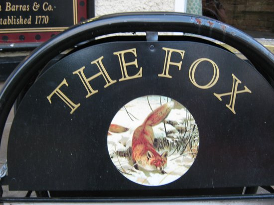 The Fox Inn:                                     sign