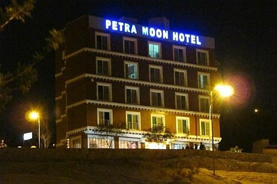 Petra Moon Hotel by night