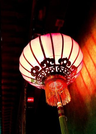 Tang's Restaurant:                                     Chines lamp in the restaurant :-) / Lampa w Restauracji