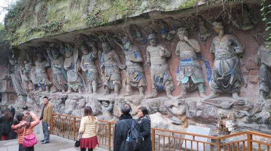Buddhist statues at dazu picture of the rock