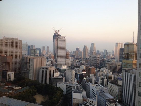 The Capitol Hotel Tokyu:                   View from a room on the 28th floor