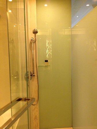 Regal Hongkong Hotel:                   独立したシャワーブース。切り替えると天井からのシャワーになります。。