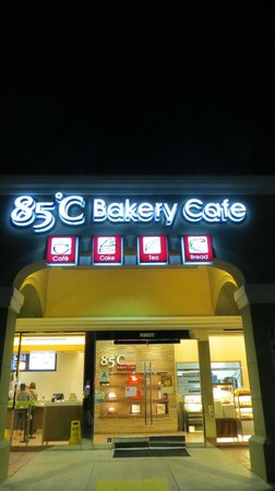 85 Degrees Bakery Cafe: External night shot