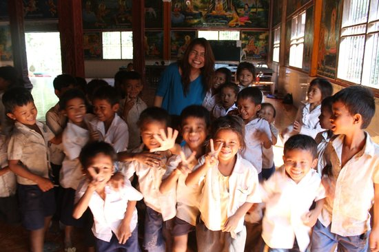 Children at the school next to the Chau Srei Vibol