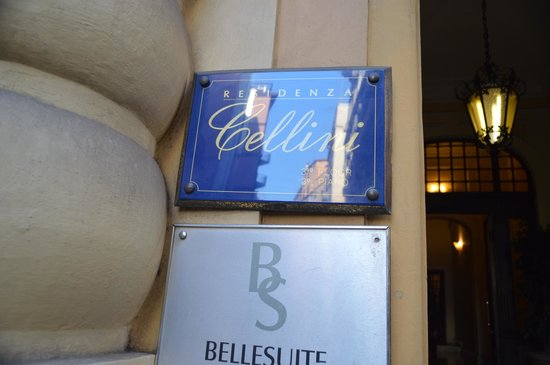 Residenza Cellini Sign Outside at Front