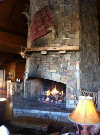 Brasstown Valley Resort & Spa:                   Main lodge fireplace