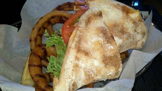 Anvil Pub & Grille:                   Anvil chicken sandwich and rings