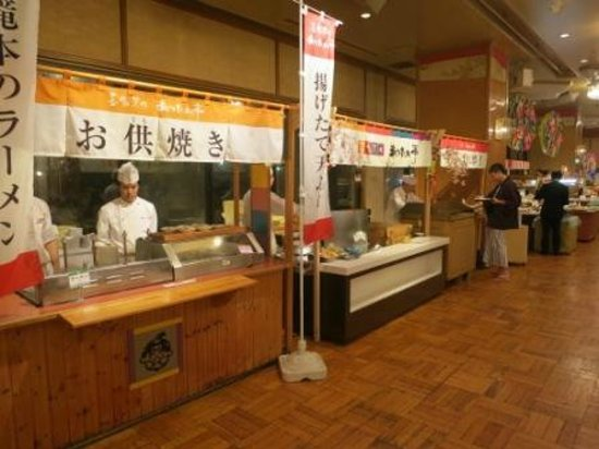 Dai-ichi Takimotokan: Cooking station - Dinner buffet