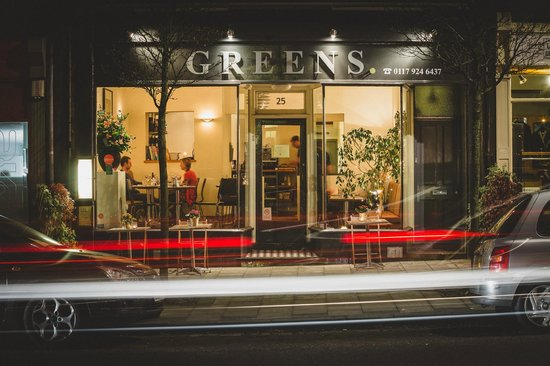 Greens by night picture of greens restaurant bristol for Greens dining room zetland road bristol