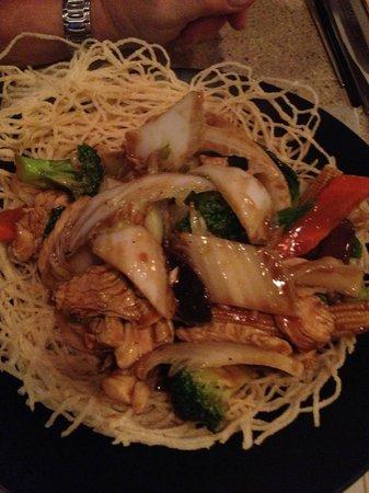 Basilic Vietnamese Grill:                   Chick wok tossed crispy noodles