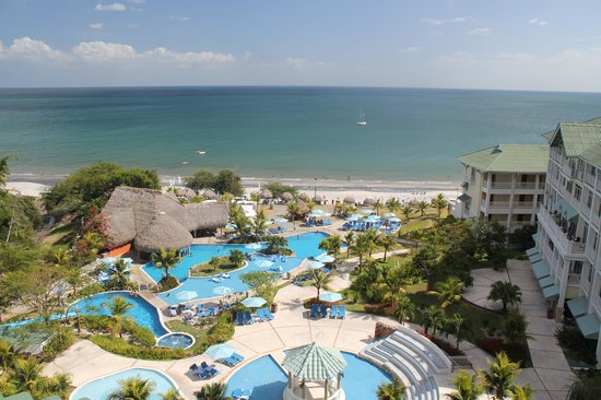 Sheraton Bijao Beach Resort:                                     View from a ocean view room 8th floor