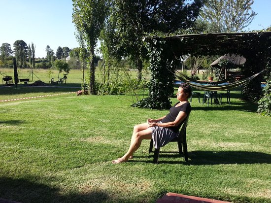 Airport Game Lodge:                   a small part of the large garden                 