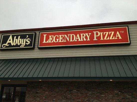 Abby's Legendary Pizza: sign