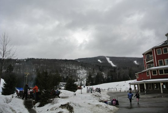 Okemo Mountain Resort:                   View of mountain from Jackson Gore base