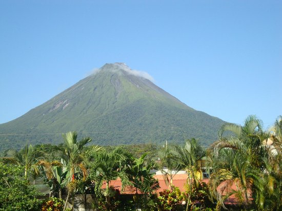 Luigi's Hotel:                   Arenal from our room