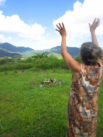 La Paloma Guest House:                   Nilda teaching us about Mother Earth and the stone circle
