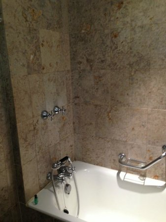 Royal Windsor Hotel:                   bath-shower