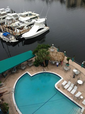 Sands Harbor Hotel and Marina Pompano Beach:                                     patio/pool area and marina