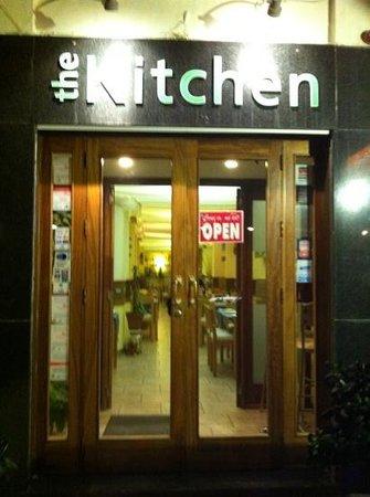 The Kitchen:                   front door