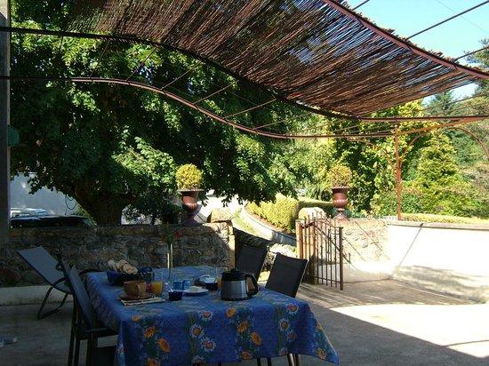 Sourcieux-les-Mines, Francia: Chambre d'hôtes La Falconnière - La terrasse