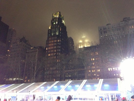 The Bryant Park Hotel:                   Bryant park by night