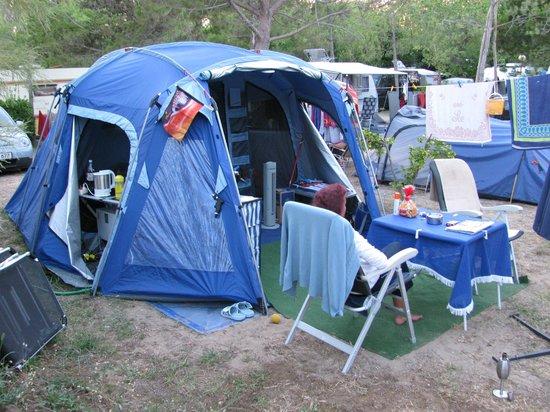 Village Camping Joker :                   Unsere Campingparzelle 2012