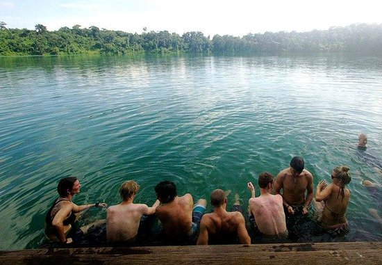 Ride Expeditions:                   Relaxing in the Yeak Laom volcanic lake.