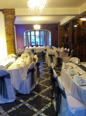 The Madonna Halley Hotel Dining Room Set Up For 60th Birthday Party