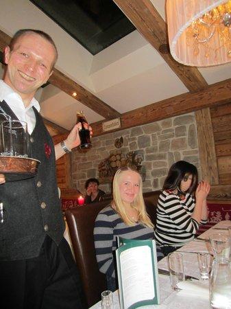 Hotel Perauer: Our waiter Daniel