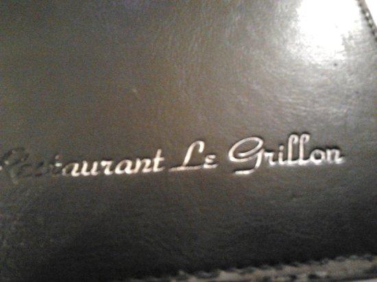 Le Grillon :                   La carte
