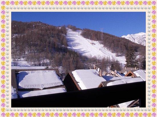 Hotel La boule de neige :                   View from our room