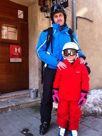 Hotel La boule de neige :                   Outside the Front of the Hotel