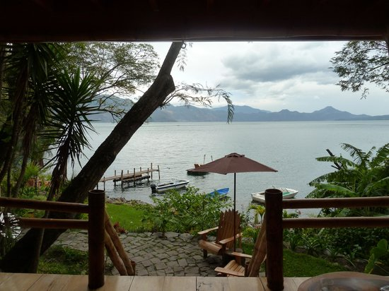 La Fortuna at Atitlan:                   View from the porch