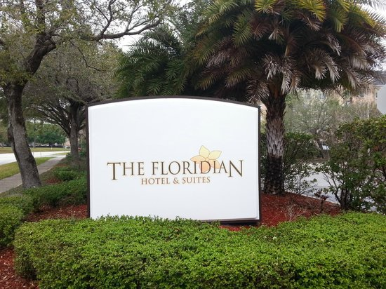 The Floridian Hotel and Suites:                   Hotel's sign