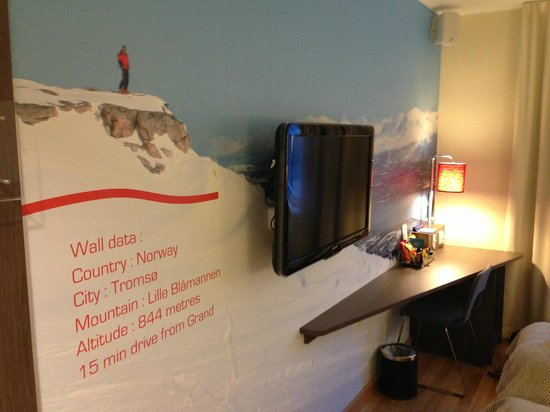Scandic Grand Tromso:                   Cool picture on the wall