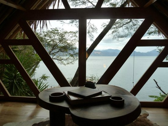 La Fortuna at Atitlan:                   View from the snug