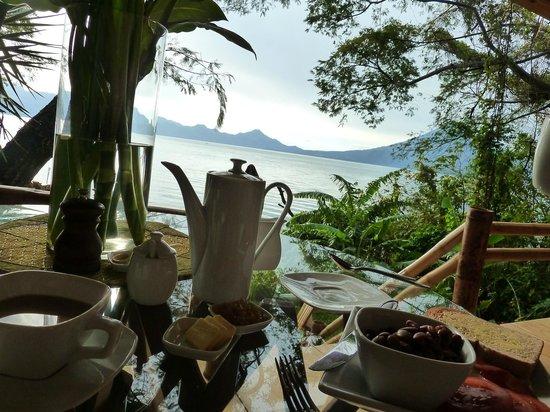 La Fortuna at Atitlan:                   Breakfast served on the private porch
