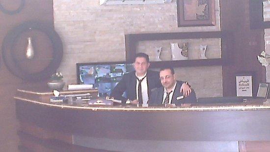 Rest Night Hotel Suites- Al Malqa :                   receptionist