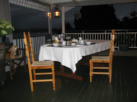 Marlin House Bed & Breakfast:                   Their outdoor breakfast area