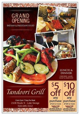 Tandoori Grill Lake George Ad in Clipper Magazine in Feb 2013