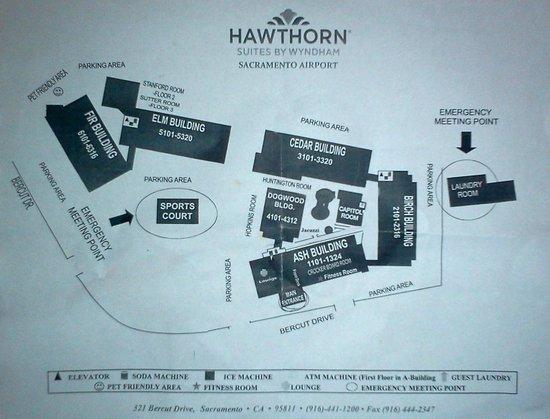 Hawthorn Suites by Wyndham Sacramento:                   Hotel layout