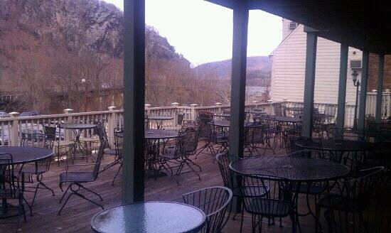Secret Six Tavern:                   beautiful patio best view in the area