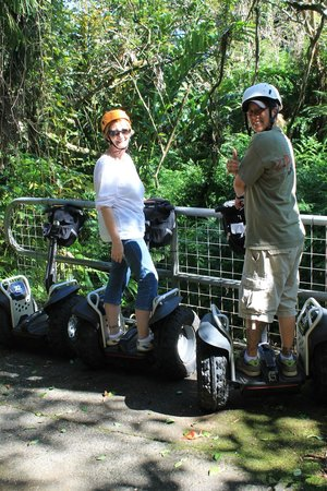 Segway Off Road at Botanical World Adventures:                   Off for our two wheeled adventure