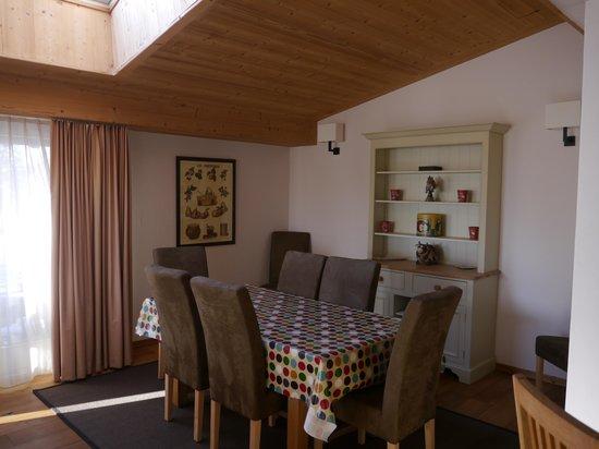 Chalet Balthazar:                                                       salle à manger