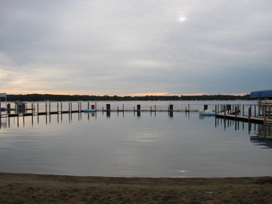 Village West Resort - West Lake Okoboji:                   Beach and Pier Area