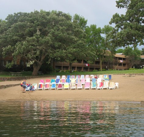 Village West Resort - West Lake Okoboji:                   Beach and Beach Chairs